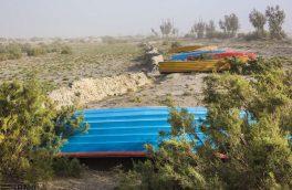 اقتصادناب _سیستان و بلوچستان؛بازنشستگی قایقها در دریاچه خشک شده هامون