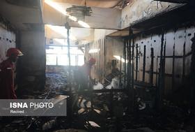آتش سوزی در مرکز تجاری رزمال