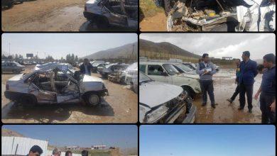 عکس از حضور مدیر کل بیمه ایران استان فارس و تیم ارزیاب خسارت در پارکینگ توقف خودروهای آسیب دیده ناشی از سیل