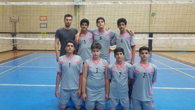 عکس از کسب مقام سوم قهرمانی تیم والیبال نونهالان فراز کرمانشاه