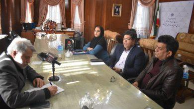 عکس از نشست هم اندیشی اقتصادناب با  مدیر کار ورفاه اجتماعی استان کرمانشاه