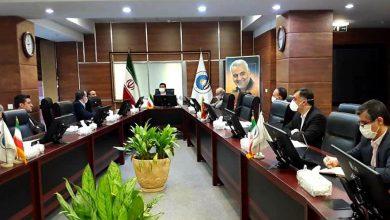 عکس از جلسه هماهنگی ستاد مدیریت بحران کرونا در بیمه ایران