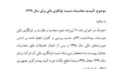 عکس از بیمه ایران معین در قله توانگری مالی شرکتهای بیمه ایستاد.