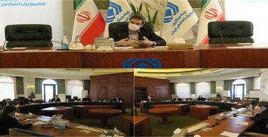 عکس از برگزاری نخستین نشست هیات موسس بازار متشکل بیمه